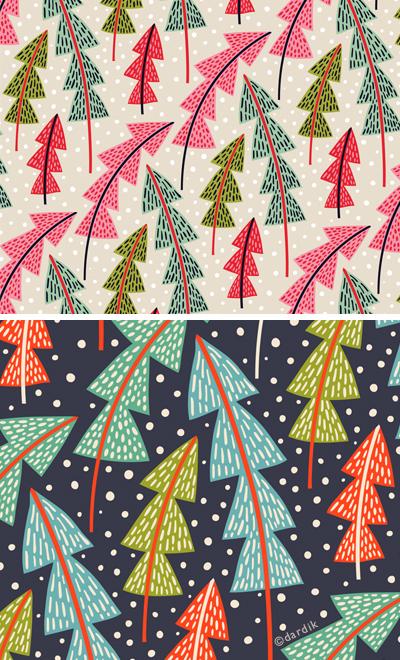 Christmas Trees - pattern by helen dardik