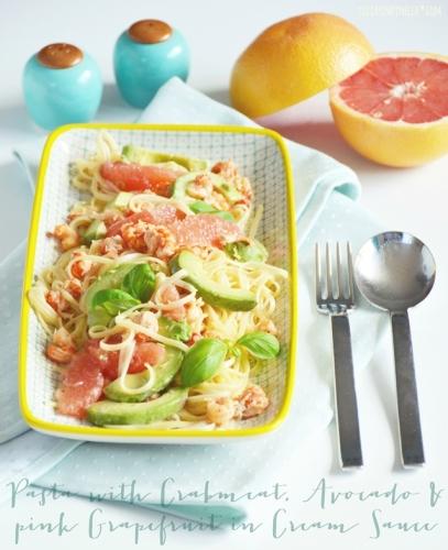 DSC_0641c_luziapimpinella_Food_Rezept_Pasta_Krebsfleisch_Grapefruit_Avocado
