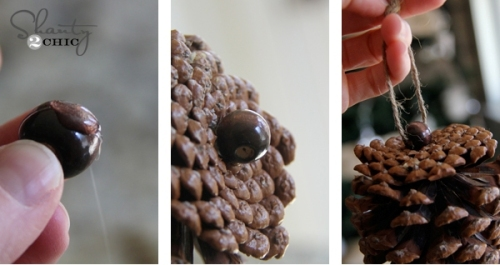 diy-ornaments-Christmas-pinecones