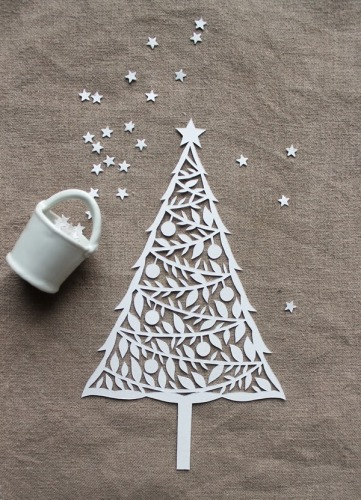 christmas tree paper cut