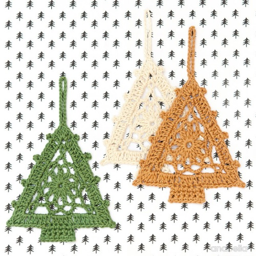 Christmas Tree pattern 1, Anabelia Craft Design